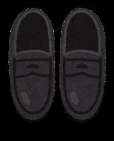 上から見た靴のイラスト(ローファー)