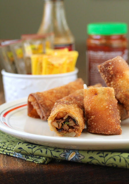 Barbecue Pork and Shrimp Egg Rolls