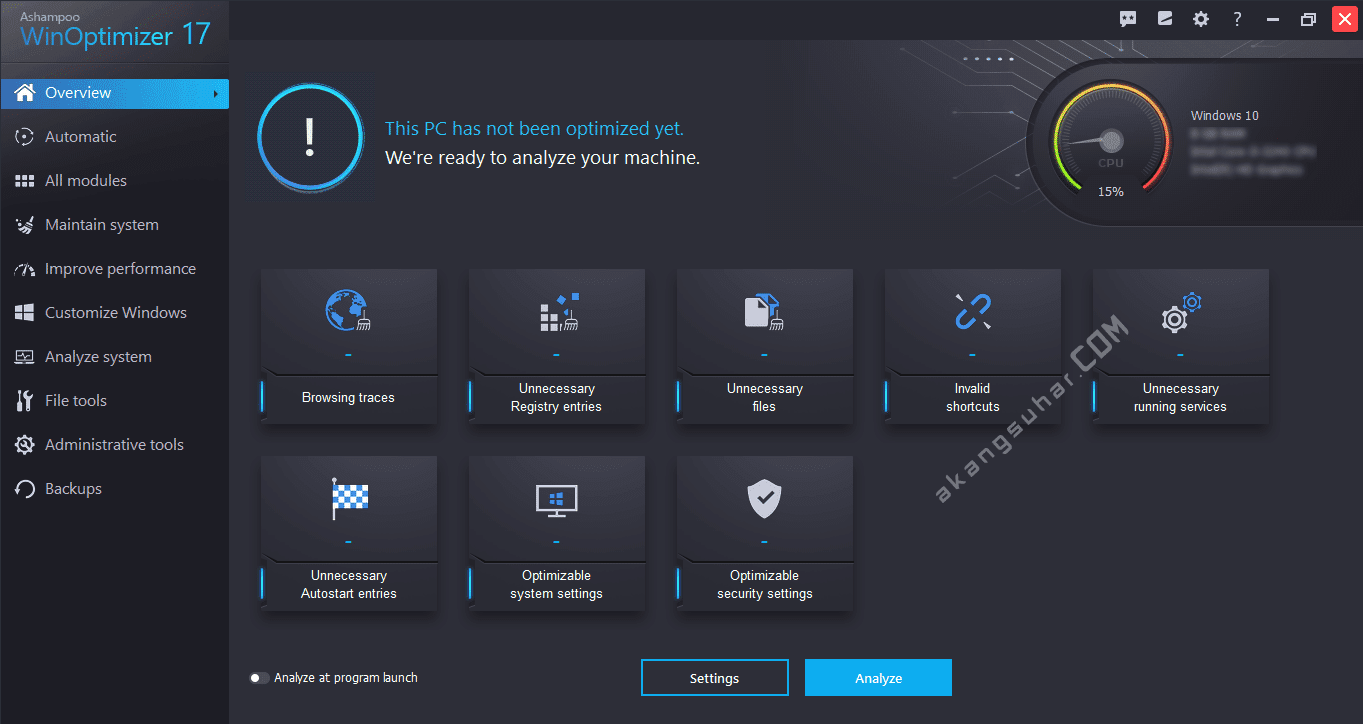 Free Download Ashampoo WinOptimizer Final Full Version
