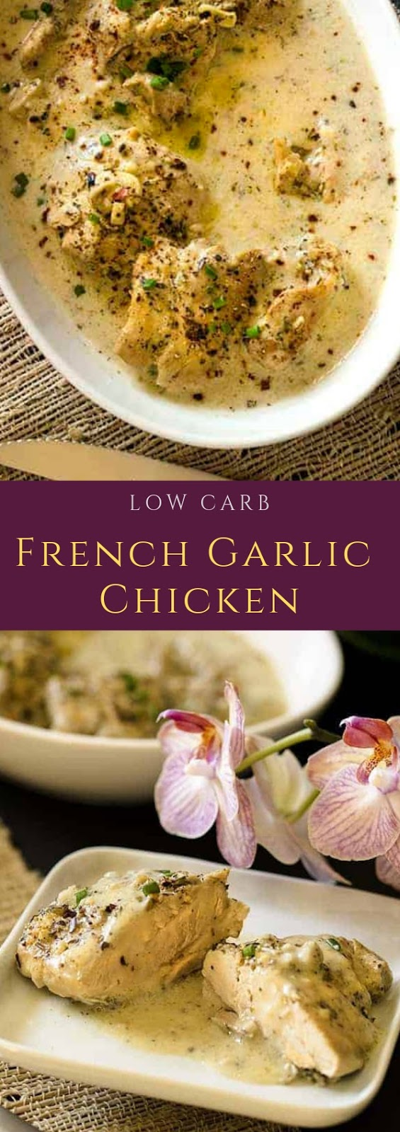 Low Carb French Garlic Chicken #maincourse #dinner #lowcarb #french #garlic #chicken