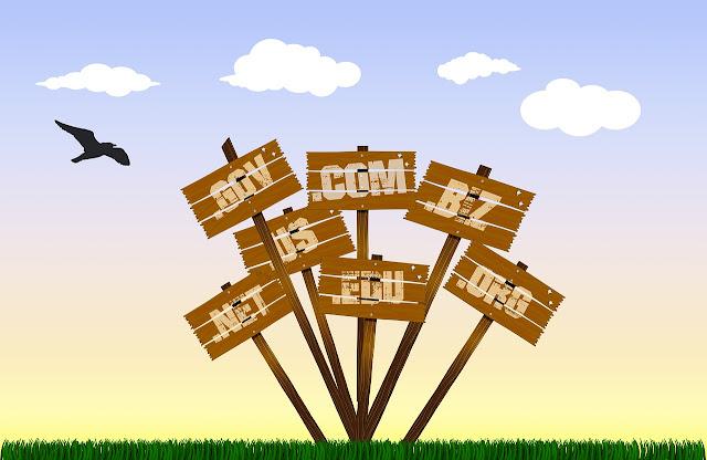 Imagem ilustrativa de terminações de domínios na Internet