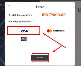 Metode pembayaran kartu kredit jaringan Visa