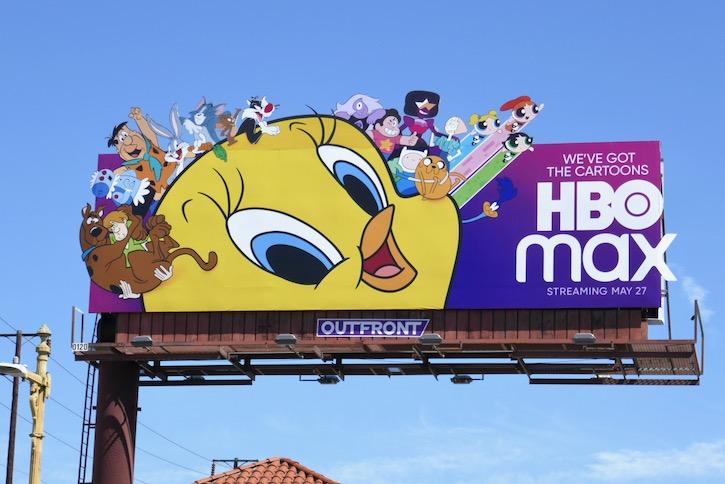 HBO Max Cartoons extension billboard