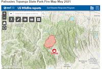 Palisades Topanga State Park Fire Map May 2021