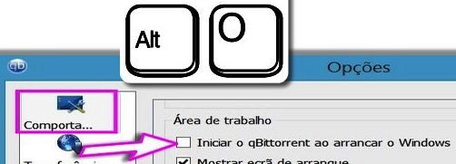 Definir Arranque do qBittorrent