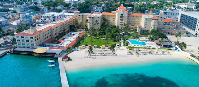 British Colonial Hilton hotel boasts the only private beach in downtown Nassau, Bahamas, and is located walking distance from dining, tax free shopping, and corporations.
