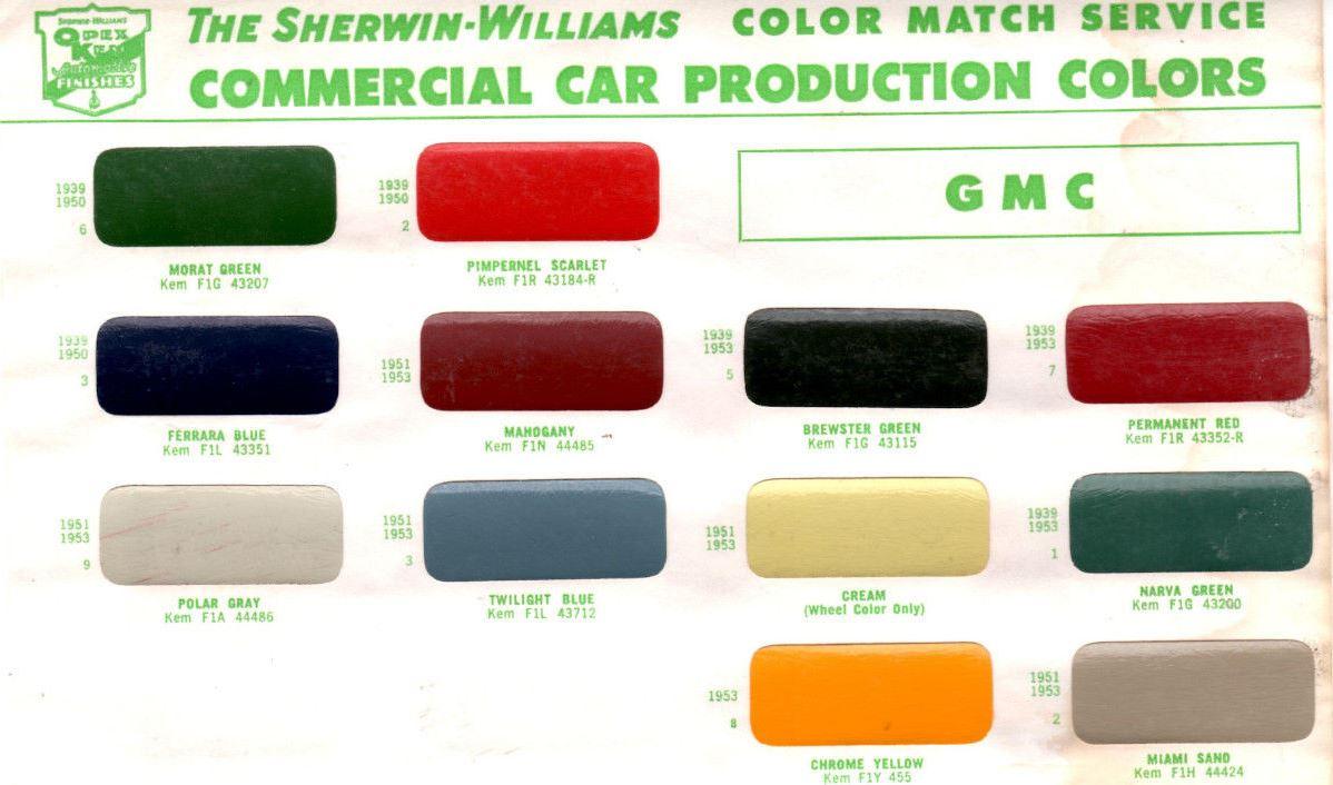 Gmc Pickup Paint Colors