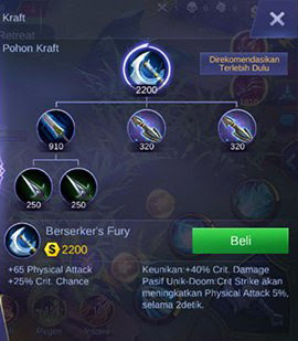 Item ketiga build Martis Mobile Legend full damage