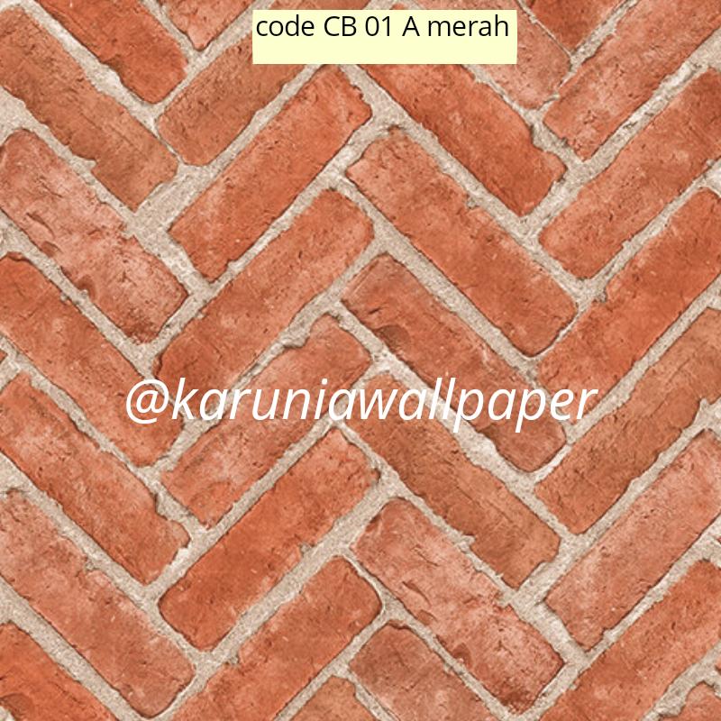jual wallpaper motif bata