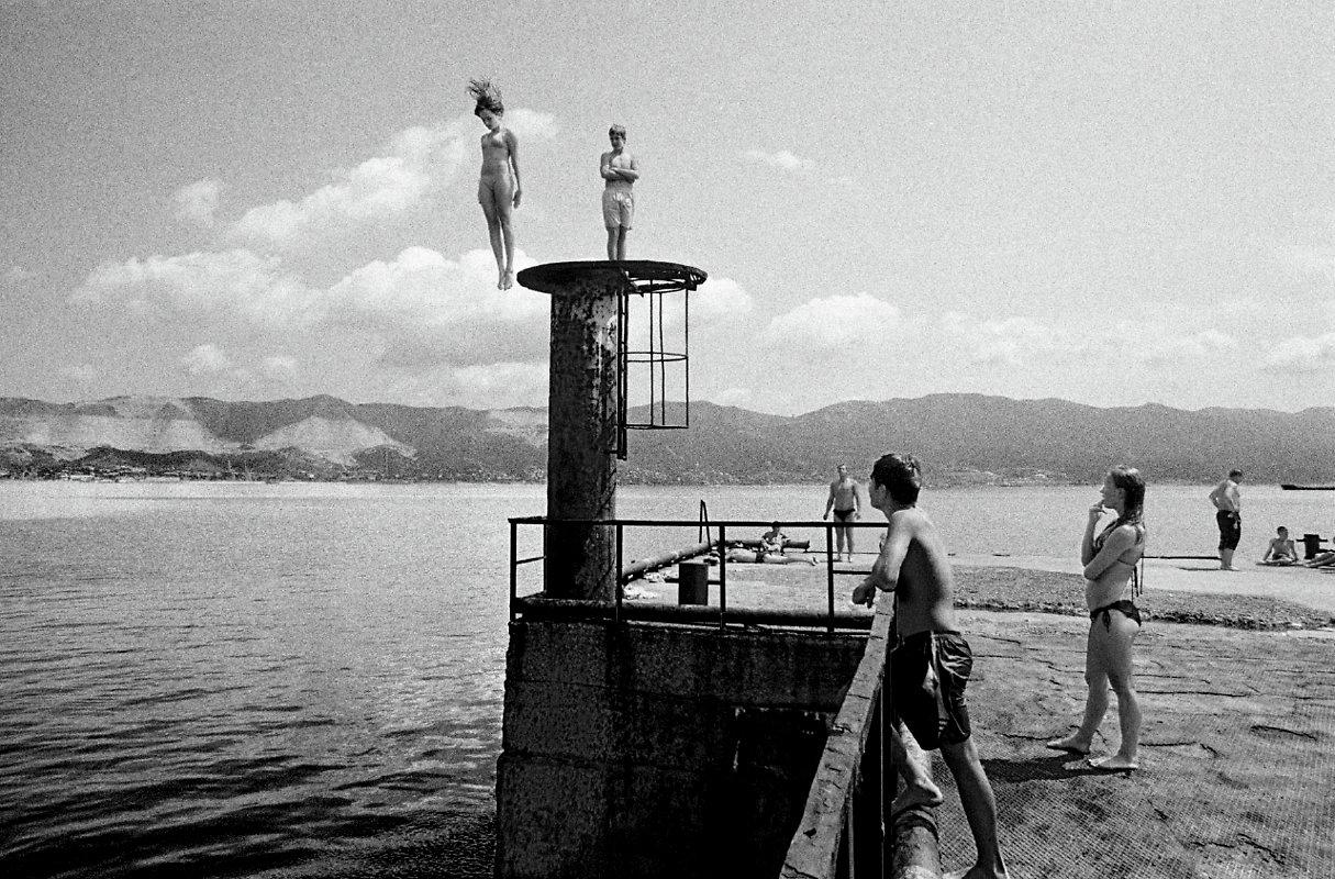 Vintage Black & White Photographs of The Plunge ~ vintage ...