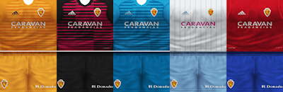 PES 6 Kits Real Zaragoza Season 2018/2019 by VillaPilla