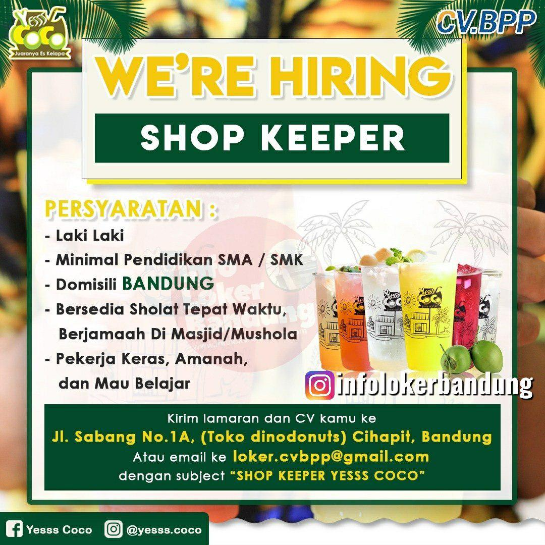 Lowongan Kerja Shop Keeper Yess Coco Bandung Desember 2019