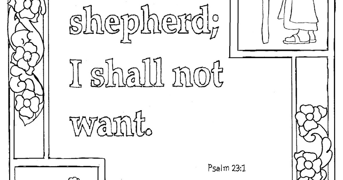 psalms 23 printable coloring pages - photo#11