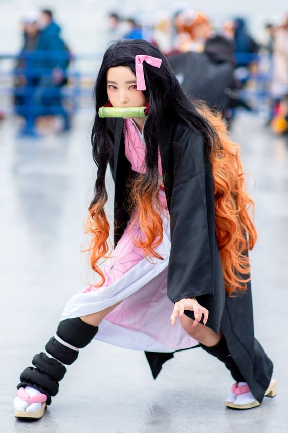 Girl with a cosplay costume