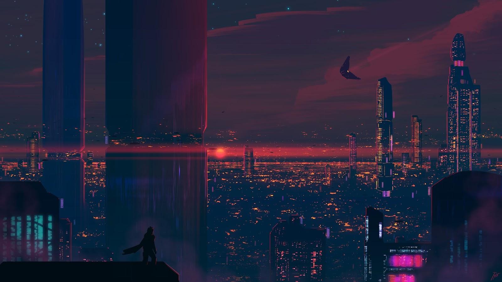 Wallpaper cyberpunk