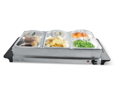 Kitchen Living Buffet Server With Warming Tray Aldi
