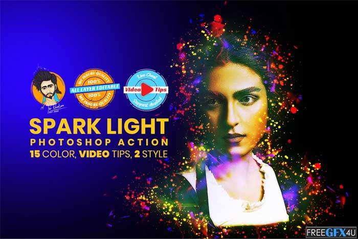 Spark Light Photoshop Action