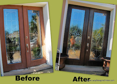 front door makeover before and after