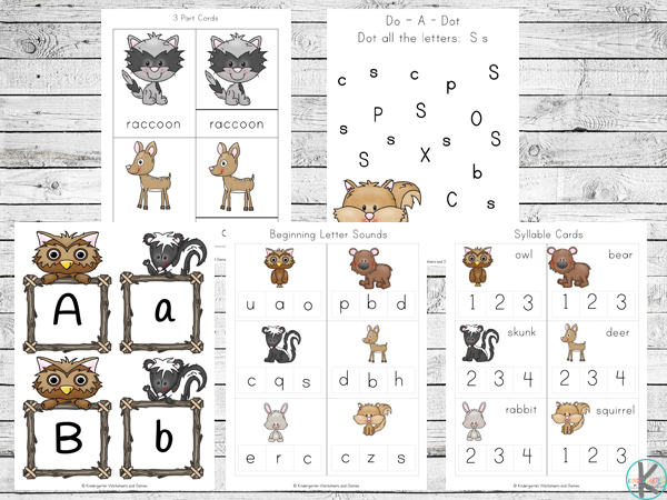 FREE Forest Animals Worksheet