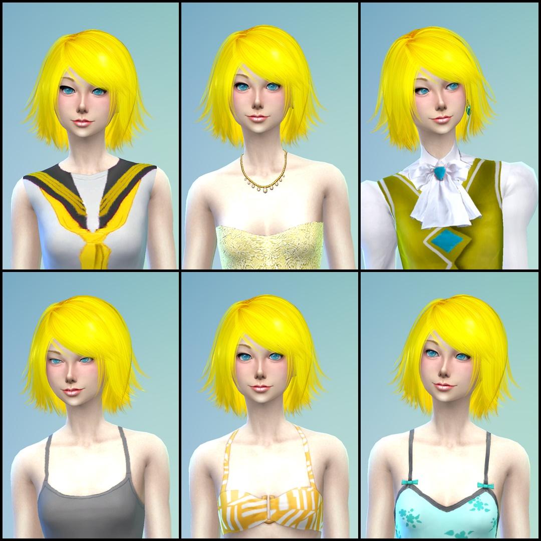 NG Sims 3: Kagamine Twins - Sims 4 Models & Clothes