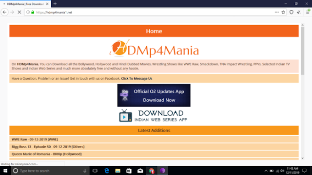 Download Movies from HDMp4Mania Website