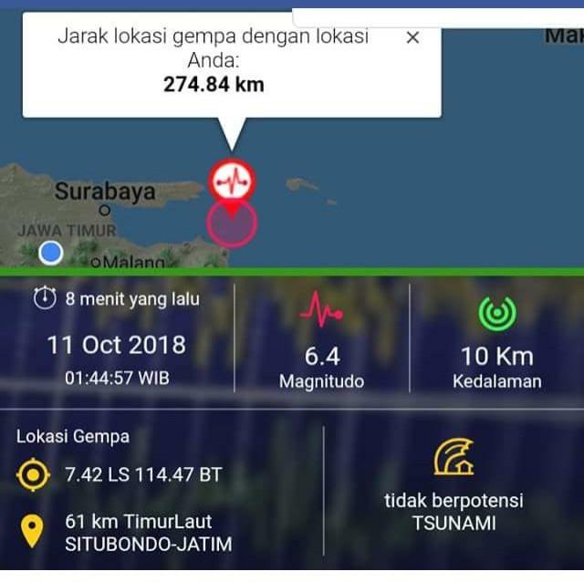Gempa Situbondo, Ini Kesaksian Menakutkan Warga Banyuwangi