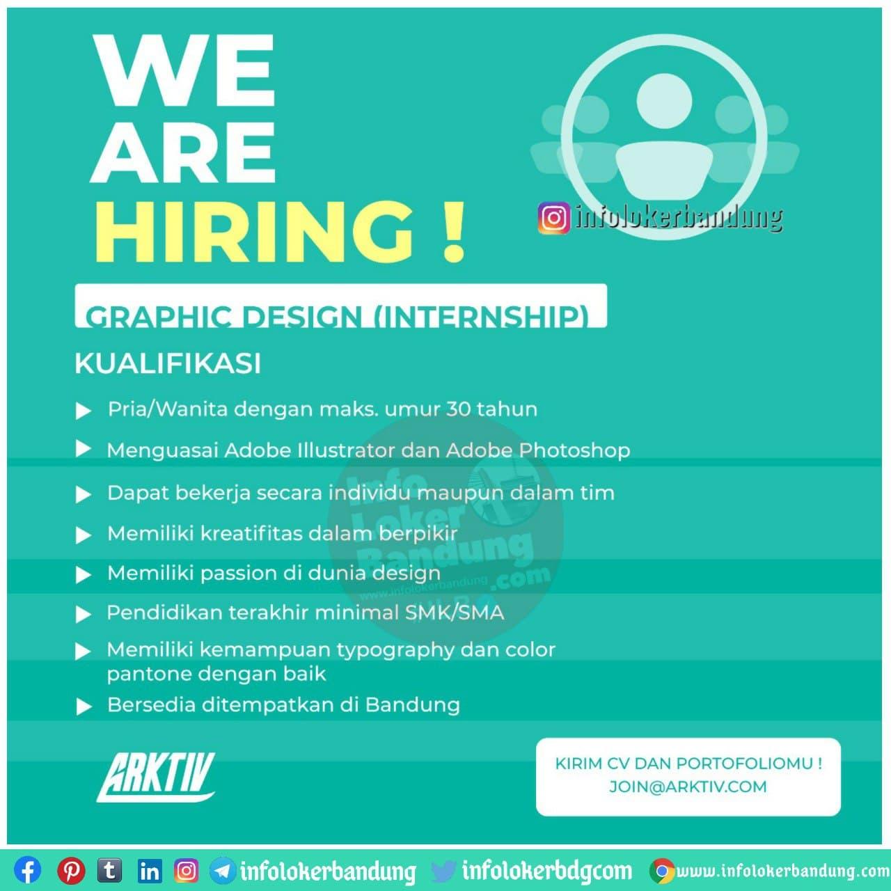 Lowongan Kerja Graphic Design (Internship) Arktiv Bandung Januari 2021