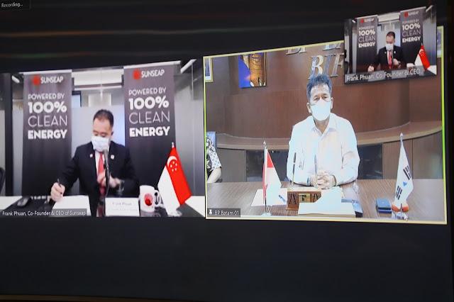 BP Batam Teken MoU Dengan Sunseap Group Pte. Ltd Kerjasama Membangun Panel Surya di Waduk Duriangkang