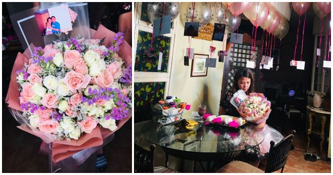 Wife receives special anniversary surprise from late husband