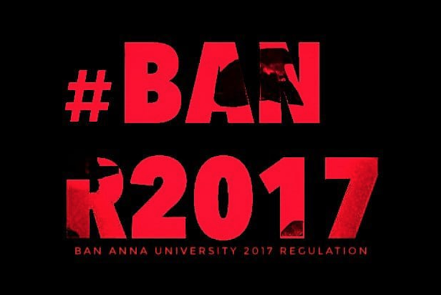 #BanR2017 Hashtag Trending in Social Media (Students Strike against Anna University)