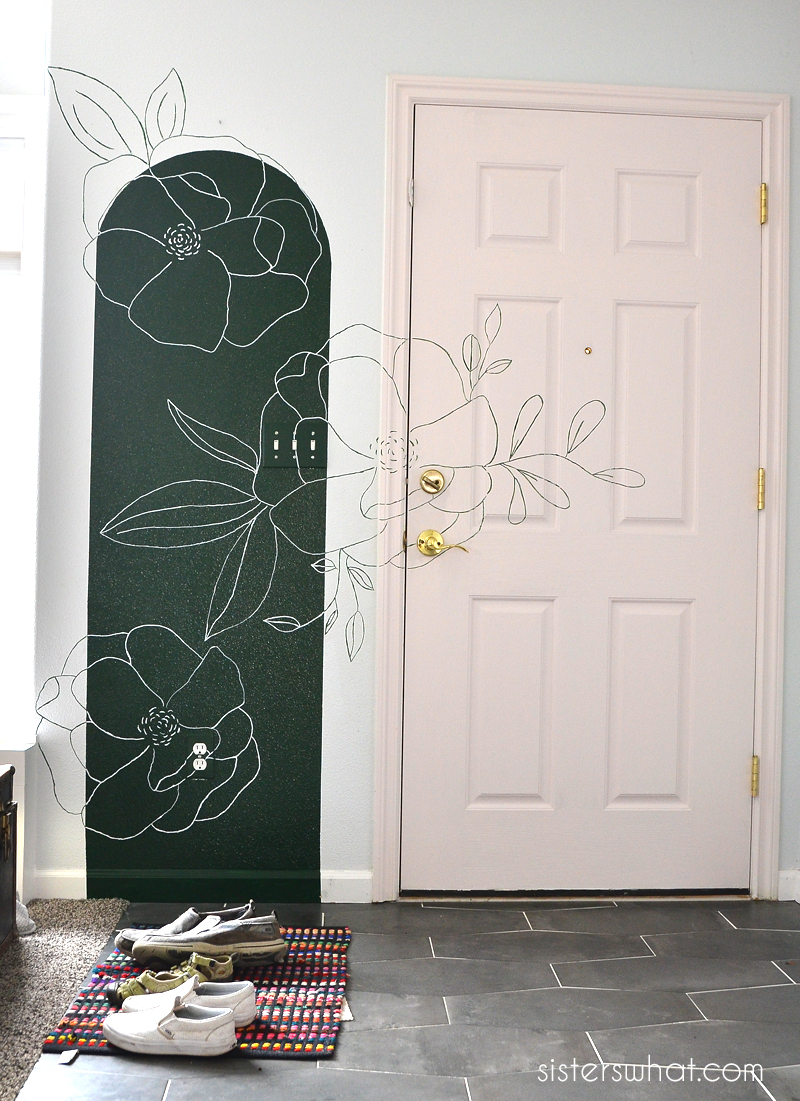 how to paint flowers on a wall