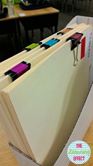 Folders in a box