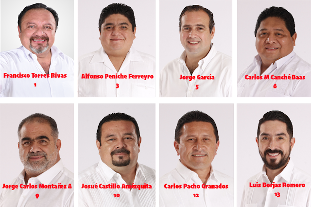Presenta PRI Yucatán a sus aspirantes a diputaciones locales de mayoría relativa