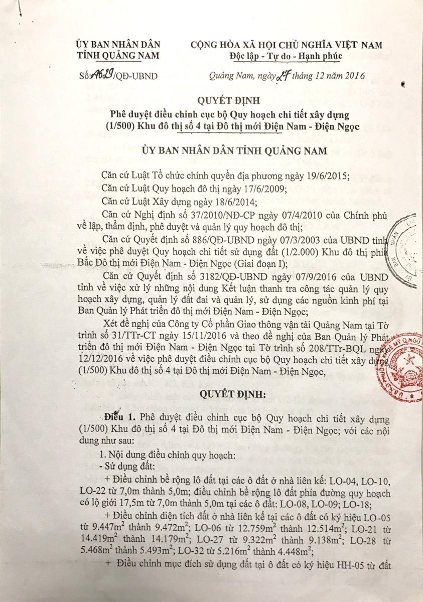 Chỉnh sửa quy hoạch chi tiết 1/500 trang 1 dự án sunriver city nam đà nẵng