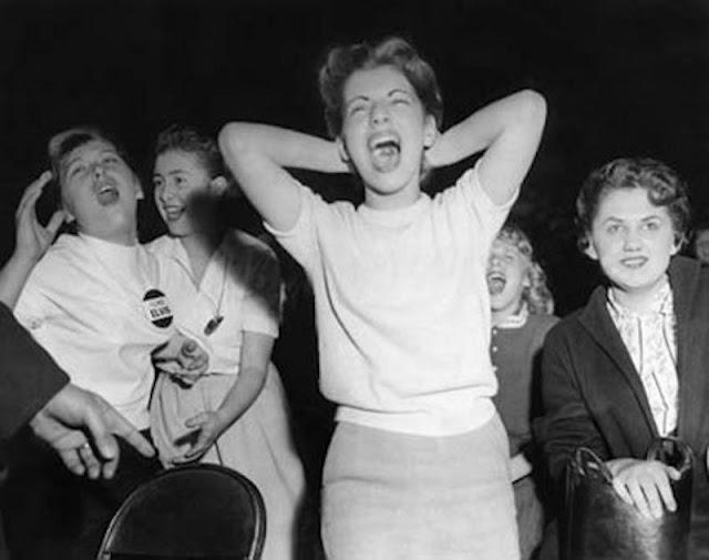 Young Elvis fans Mar. 28, 1957, screaming while watching Elvis perform. Pirate Radio and Sealand and Other stories of Rock, Radio, and Regulations. Marchmatron.com
