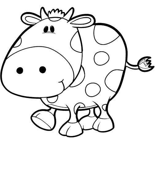 Hình tập tô màu con bò