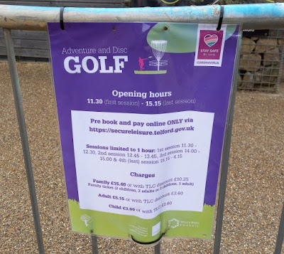 Social distancing at Telford Town Park's Adventure Golf course