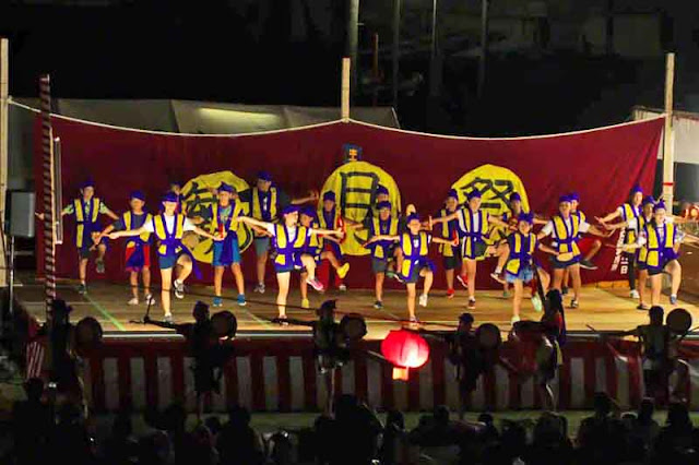 dance, Eisa, festival, moon, Okinawa, outdoors, stage
