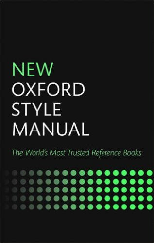 M. T. Crenshaw's books: new oxford style manual 3rd edition by.