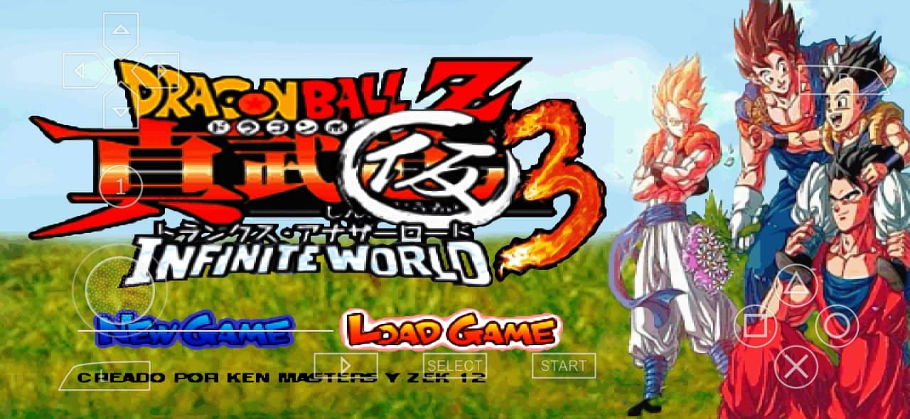 DBZ Infinite World PSP ISO Download