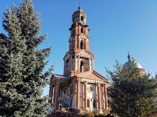 Миропілля. Вул. Сумська. Свято-Миколаївська церква і дзвіниця Миколаївського монастиря