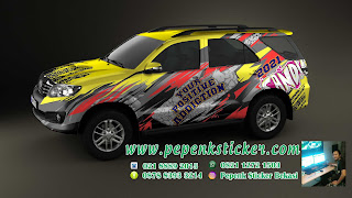 Decal full fortuner