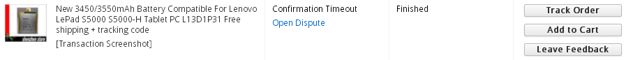 AliExpress Confirmation Timeout Finished