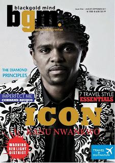 Kanu Nwankwo Covers Black Gold Magazine Aug/Sept Issue 1