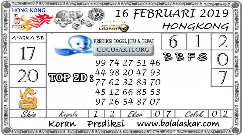Prediksi Togel HONGKONG LASKAR4D 16 FEBRUARI 2019