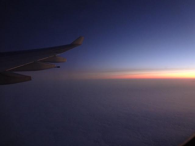 Atardecer desde un avión