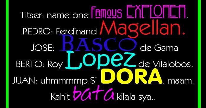 Famous Dora The Explorer Quotes: Name One Famous Explorer