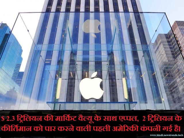 Apple market value - newstrendshindi