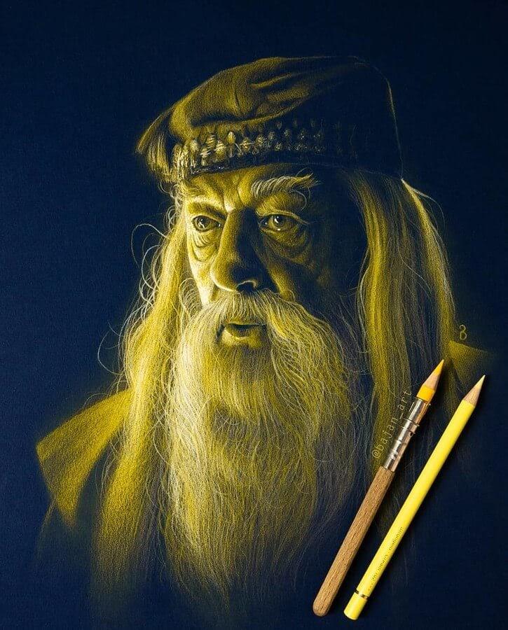 02-Albus-Dumbledore-Michael-Gambon-Lukasz-Andrzejczak-www-designstack-co