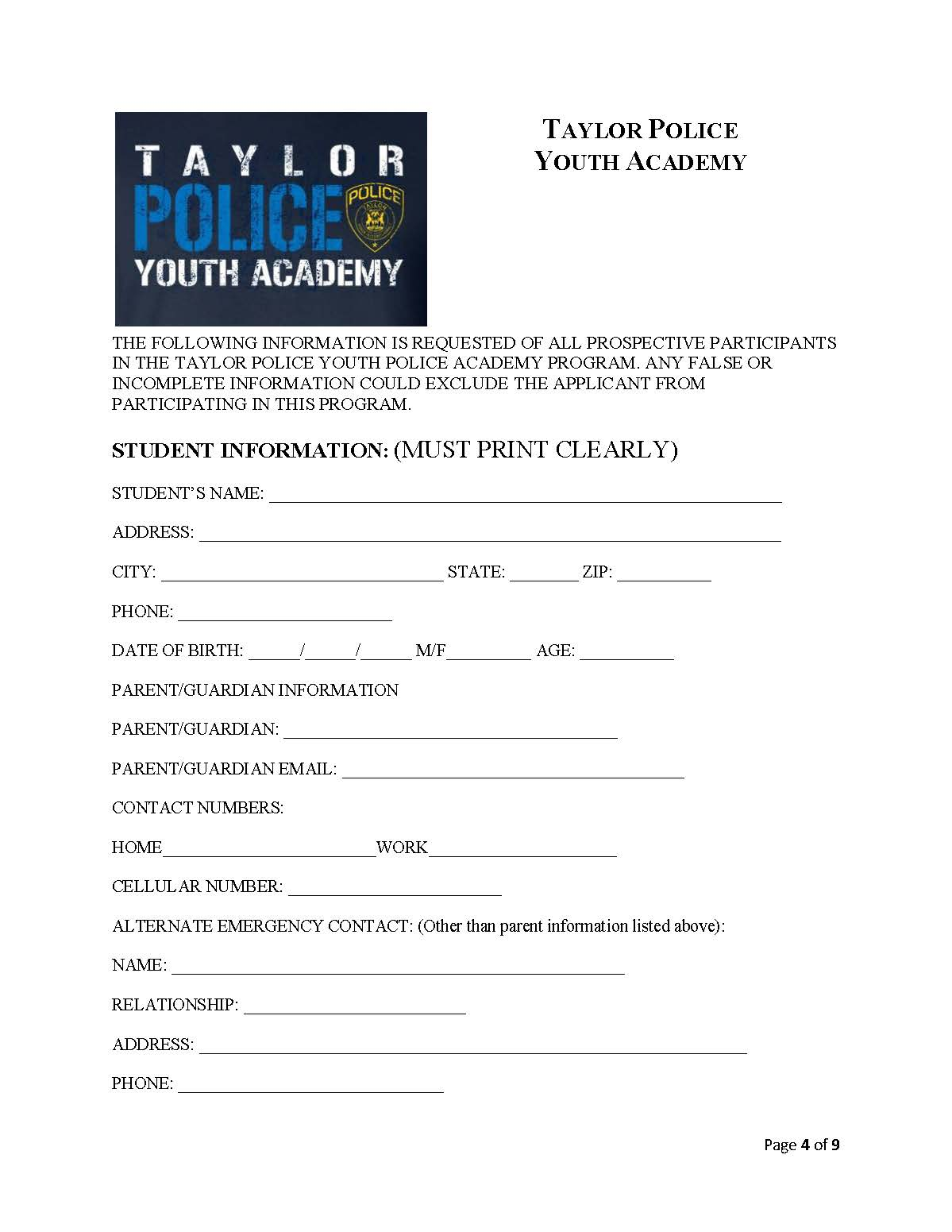 Talking Taylor Schools: STUDENTS CAN APPLY for spot in